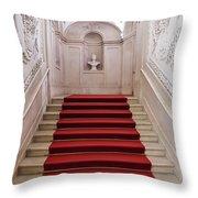 Royal Palace Staircase Throw Pillow