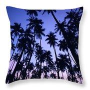 Royal Palm Grove Throw Pillow