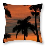 Royal Palms Throw Pillow