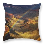Royal Rainbow Throw Pillow by Peter Coskun