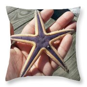 Royal Starfish. . Throw Pillow