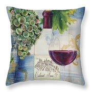 Royal Wine-a Throw Pillow