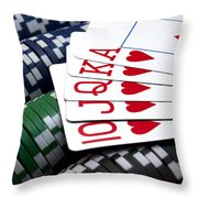 Royally Flushed Throw Pillow