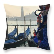 Royals In Blue Throw Pillow