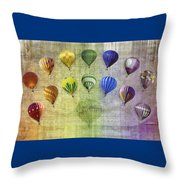 Roygbiv Balloons Throw Pillow