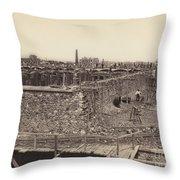 R?servoir De Montrouge, Basin Sup?rieur, C?t? Droit (montrouge Reservoir, Upper Basin, Right Side) Throw Pillow