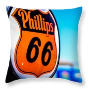Rt. 66 Gas Pump Throw Pillow
