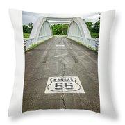 Rt. 66 Rainbow Bridge Throw Pillow