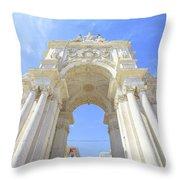 Rua Augusta Triumphal Arch Throw Pillow
