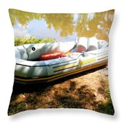 Rubber Boat 1 Throw Pillow