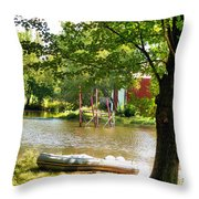 Rubber Boat 2 Throw Pillow