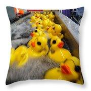 Rubber Duckies Throw Pillow