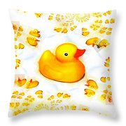 Rubber Ducks Throw Pillow