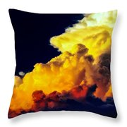 Rubber Ducky Elephant Clouds  Throw Pillow