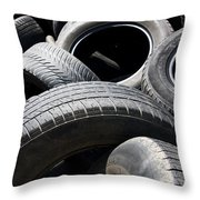 Rubber Refuse Throw Pillow