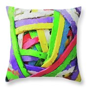 Rubberband Ball I Throw Pillow