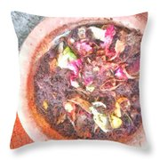 Rubbish Turns Into Compost Throw Pillow
