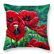 Rubies In The Emerald Forest Throw Pillow