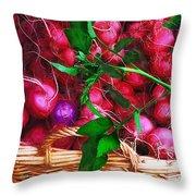 Rubies Organic Throw Pillow