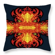 Rubino Propaganda On Fire Throw Pillow