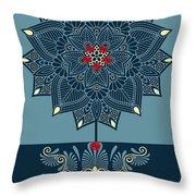 Rubino Zen Flower Throw Pillow