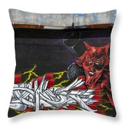 Rubrum Diabolus Throw Pillow