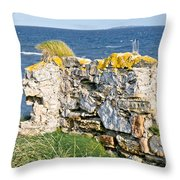 Ruby Bay. Leftovers Of The Wall. Throw Pillow