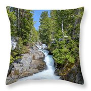 Ruby Falls On A Spring Afternoon Throw Pillow