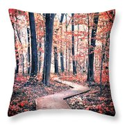 Ruby Forest Throw Pillow
