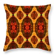 Ruby Glow Pattern Throw Pillow