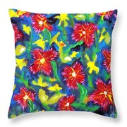 Ruby Reds.  Throw Pillow