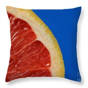 Ruby Red Grapefruit Quarter Throw Pillow