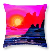 Ruby Red Levitation Throw Pillow