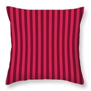 Ruby Red Striped Pattern Design Throw Pillow