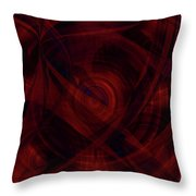 Ruby Red Veil Throw Pillow