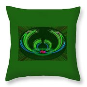 Ruby Singularity In Emerald Sapphire Nest Throw Pillow