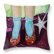 Ruby Slippers Throw Pillow