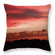 Ruby Sunset Throw Pillow