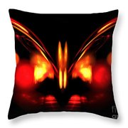 Ruby Wings Throw Pillow