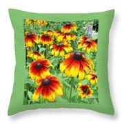 Rudbeckia Cappuccino Throw Pillow
