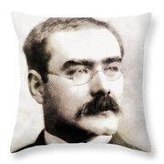 Rudyard Kipling, Literary Legend Throw Pillow