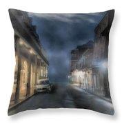 Rue Brumeuse Throw Pillow