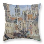 Rue De L'epicerie, Rouen Throw Pillow