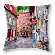 Rue Du Cul De Sac Throw Pillow