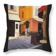 Rue En Nice Throw Pillow