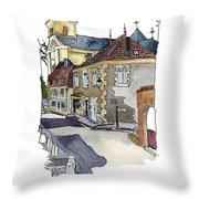 Rue Font St Jean, Ste Alvere, Dordogne Throw Pillow