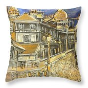 Rue Lepic Throw Pillow