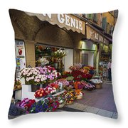 Rue Pairoliere In Nice Throw Pillow