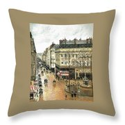 Rue Saint Honore Throw Pillow