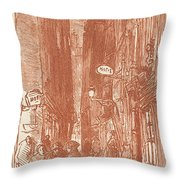 Rue Saint-severin Throw Pillow